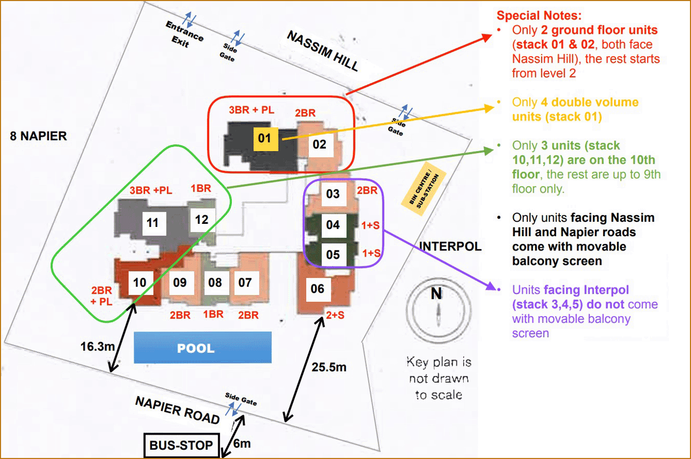19 Nassim Condo site plan