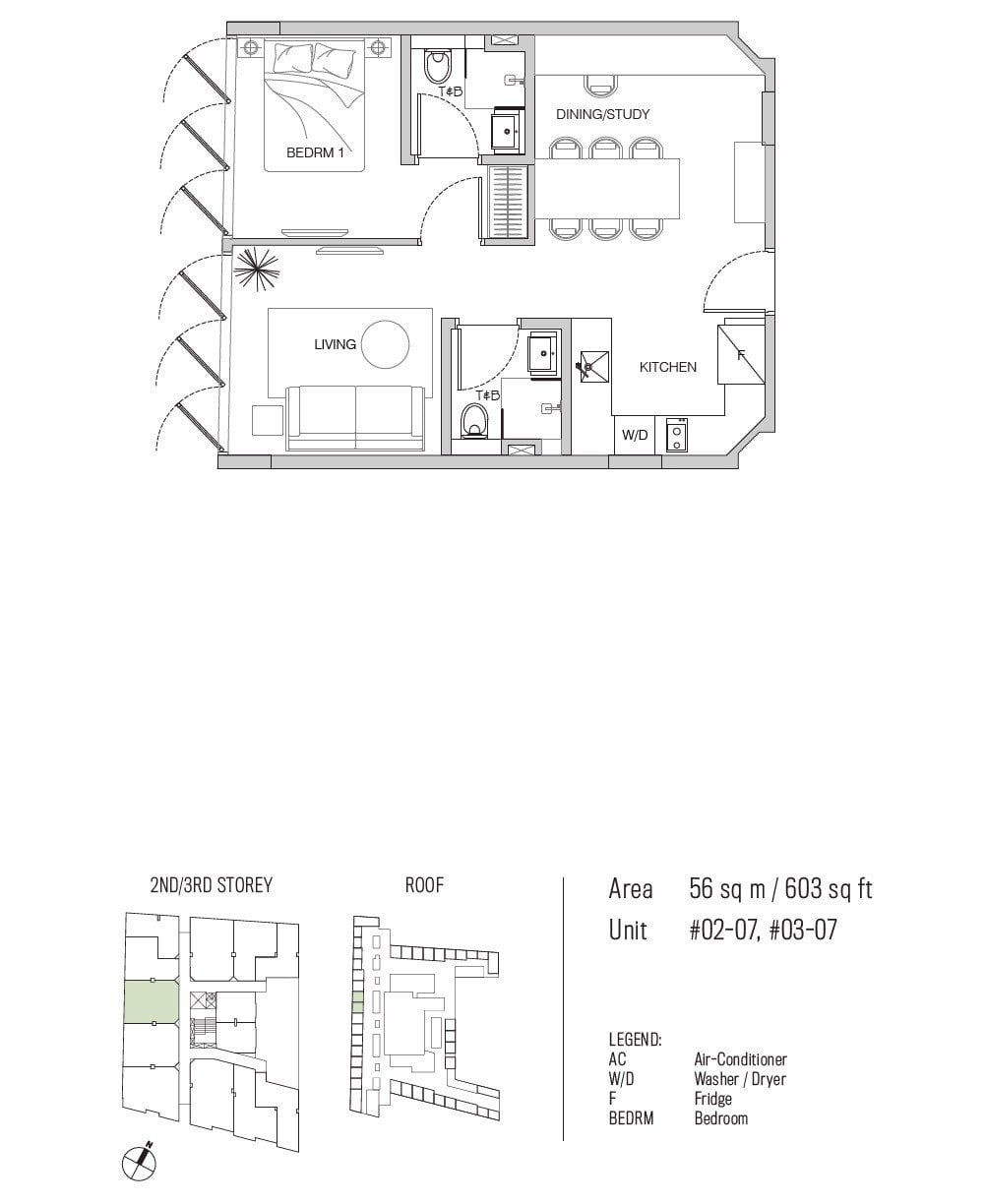 77 east coast floor plan 1BR+1