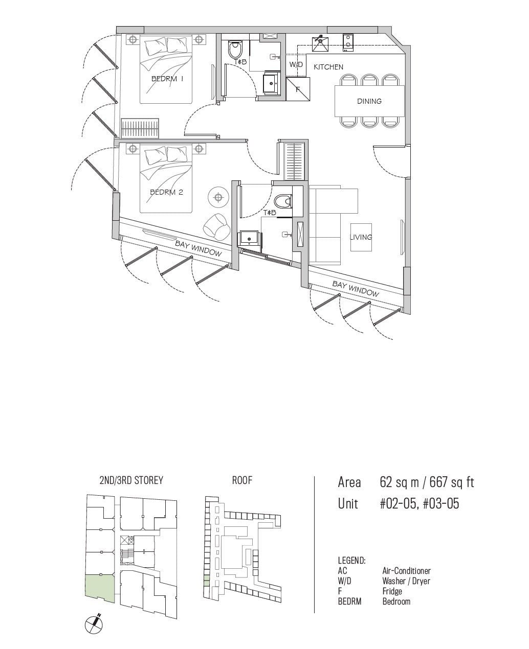 77 east coast floor plan 2BR type C