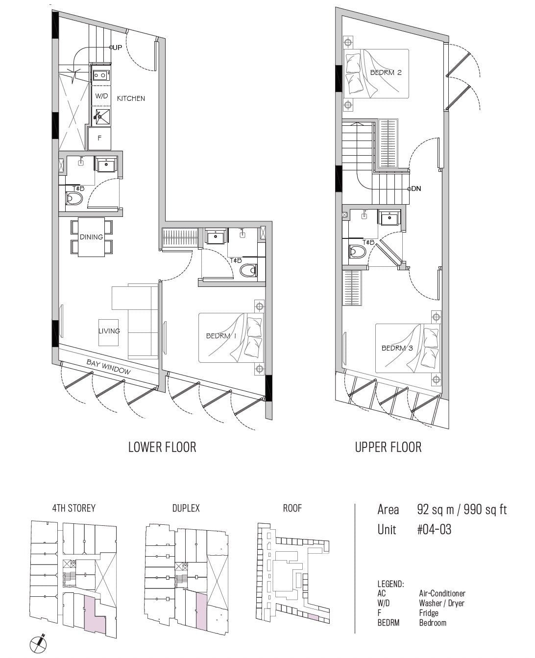 77 east coast floor plan 3BR