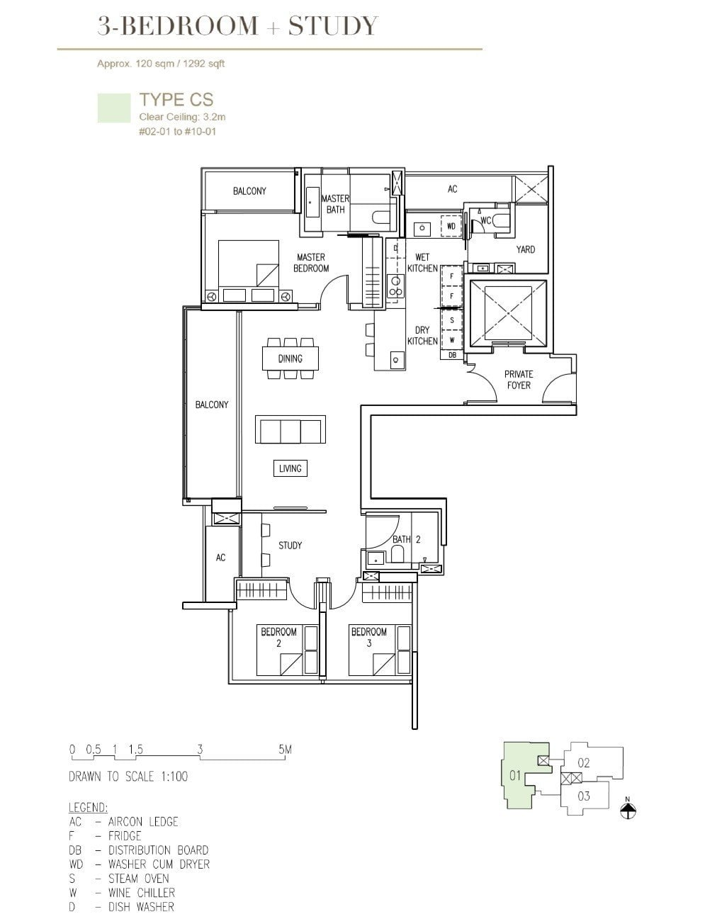 Cairnhill-16-Orchard Floor Plan 3BR+S Type D