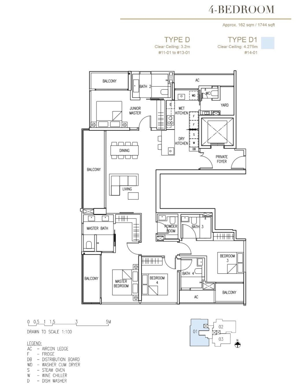 Cairnhill-16-Orchard Floor Plan 4BR Type D