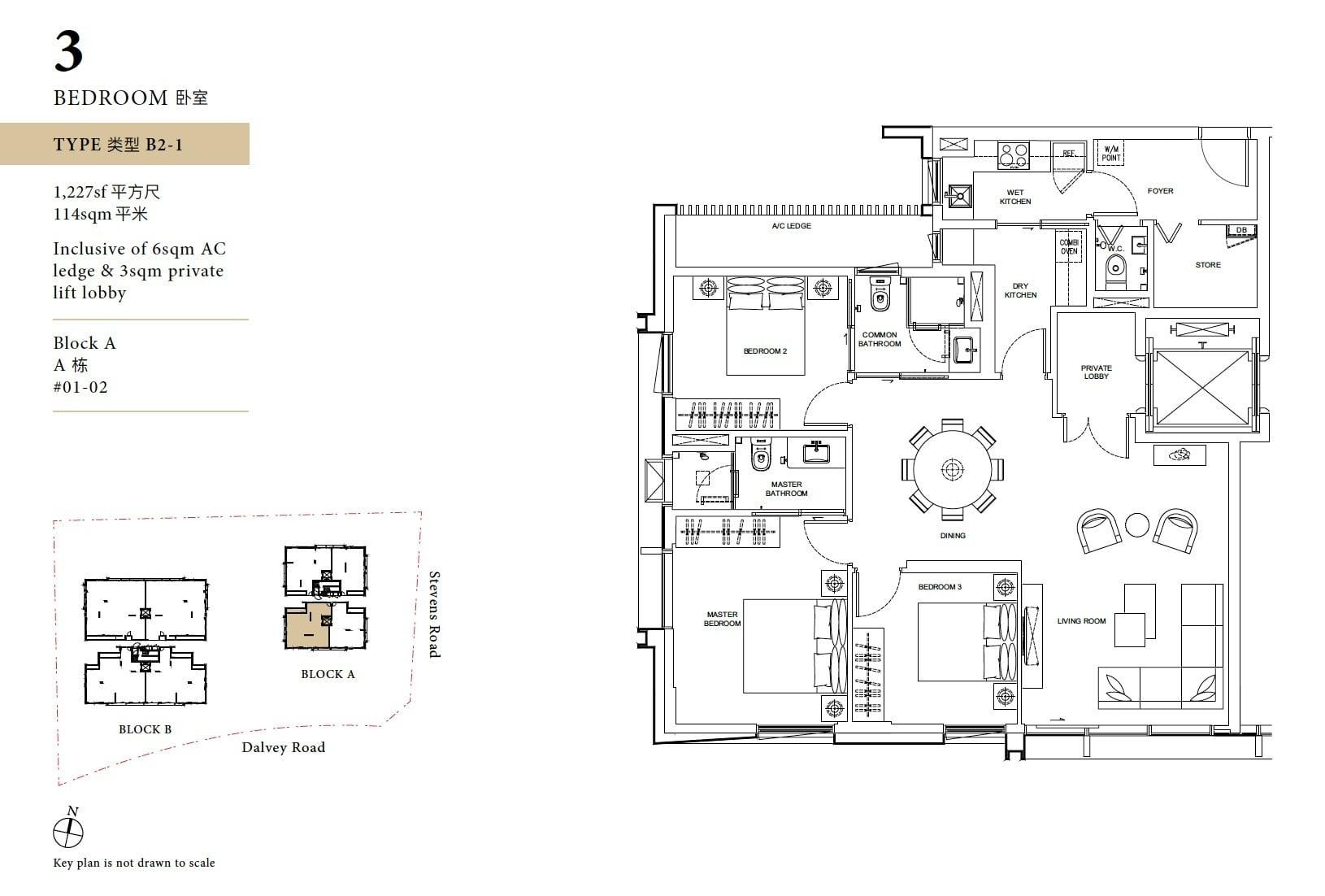 Davey Haus floor plan 3BR C1
