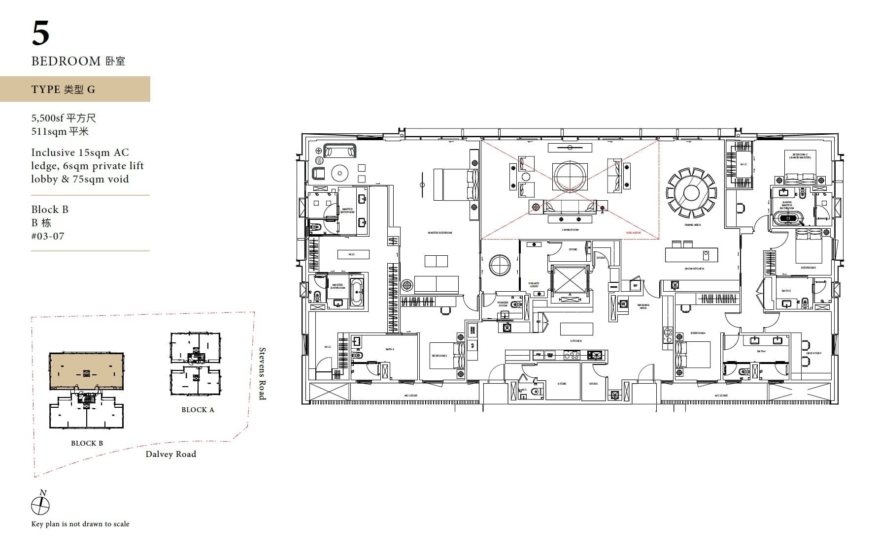Davey Haus floor plan 5BR G
