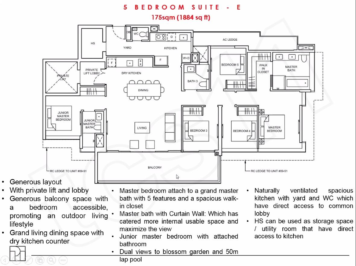 Forett floor plan 5BEDROOM