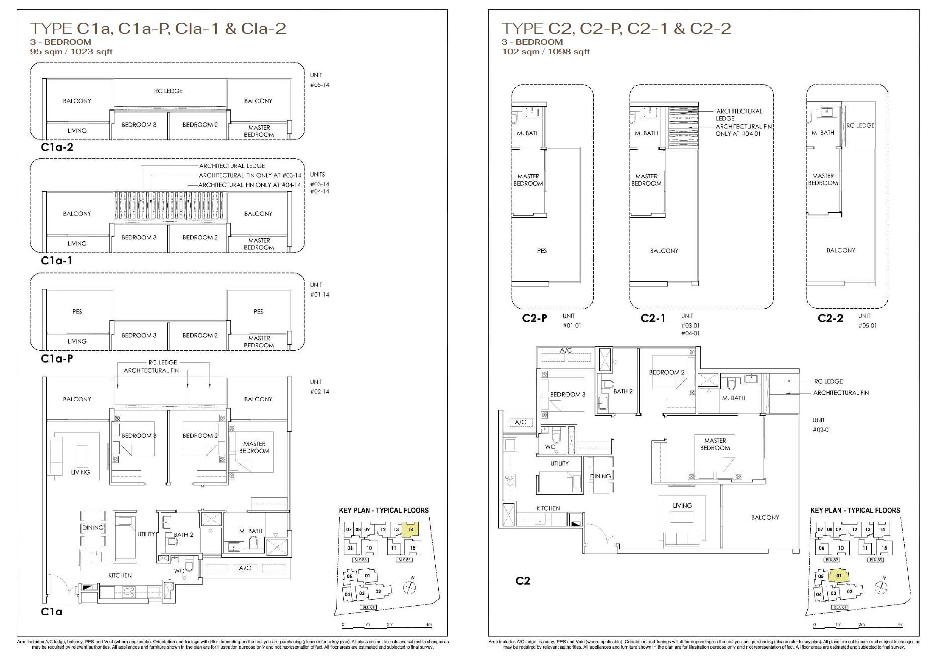 Phoenix Residences floor plan 3 Bedroom-2