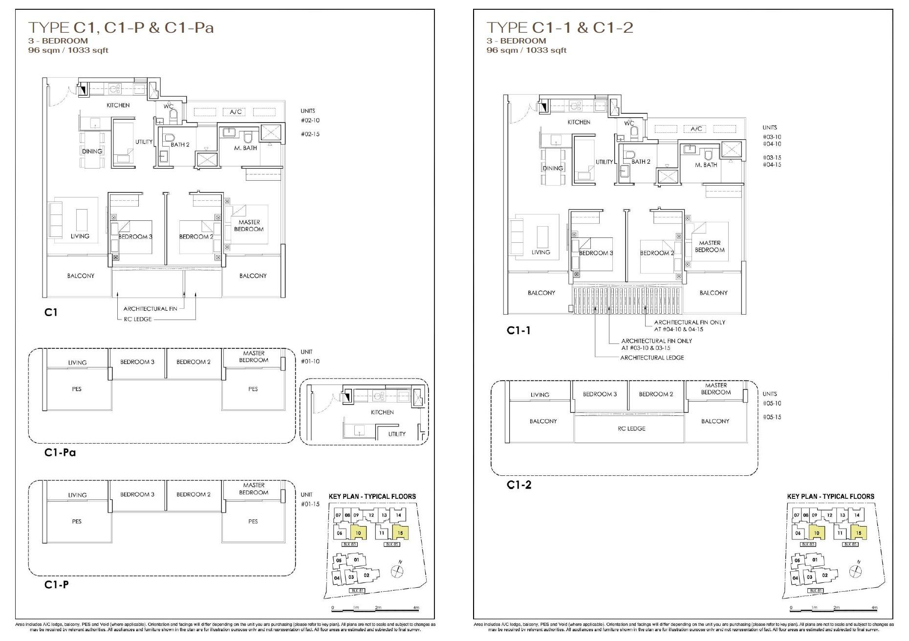 Phoenix Residences floor plan 3 Bedroom