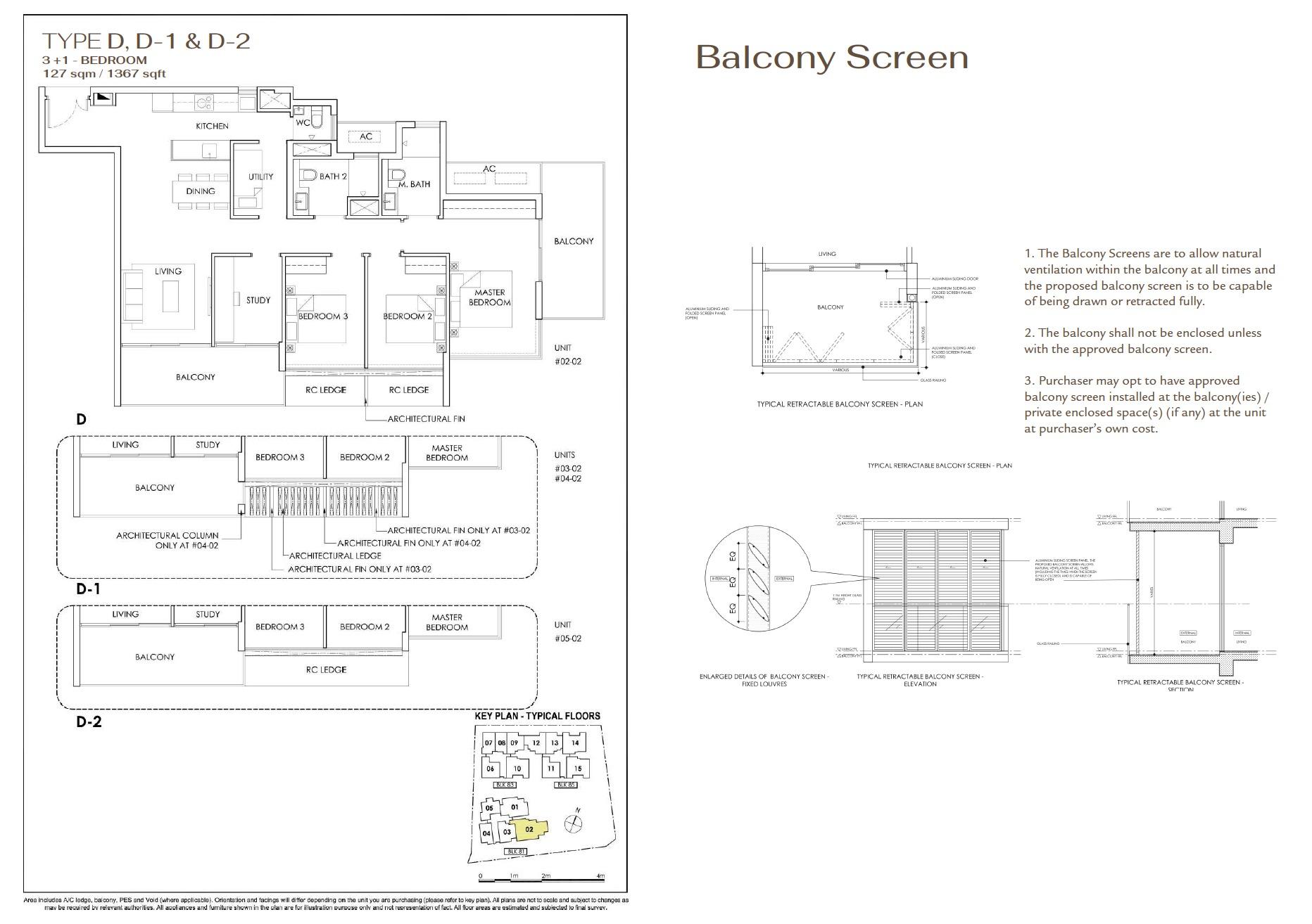 Phoenix Residences floor plan 3+1 Bedroom