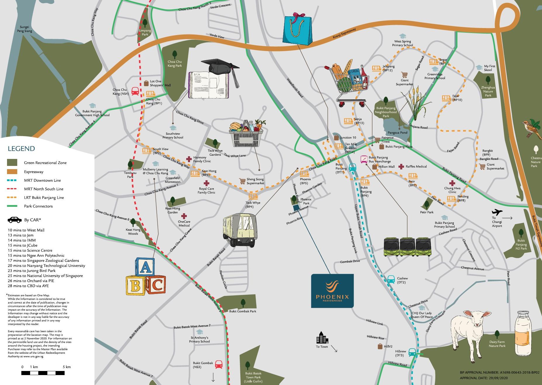 Phoenix Residences location map