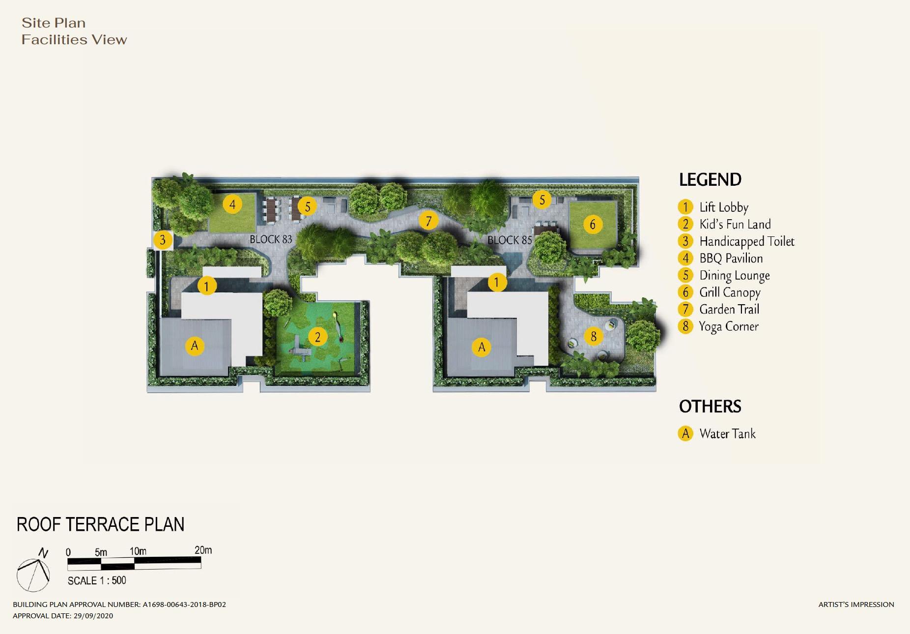 Phoenix Residences site plan facilities