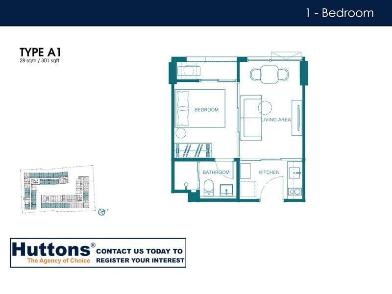 Quintara Condo Huai Kwang Floor Plan Type A1