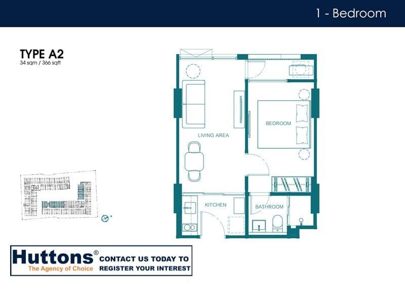 Quintara Condo Huai Kwang Floor Plan Type A2
