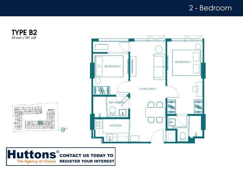 Quintara Condo Huai Kwang Floor Plan Type B2