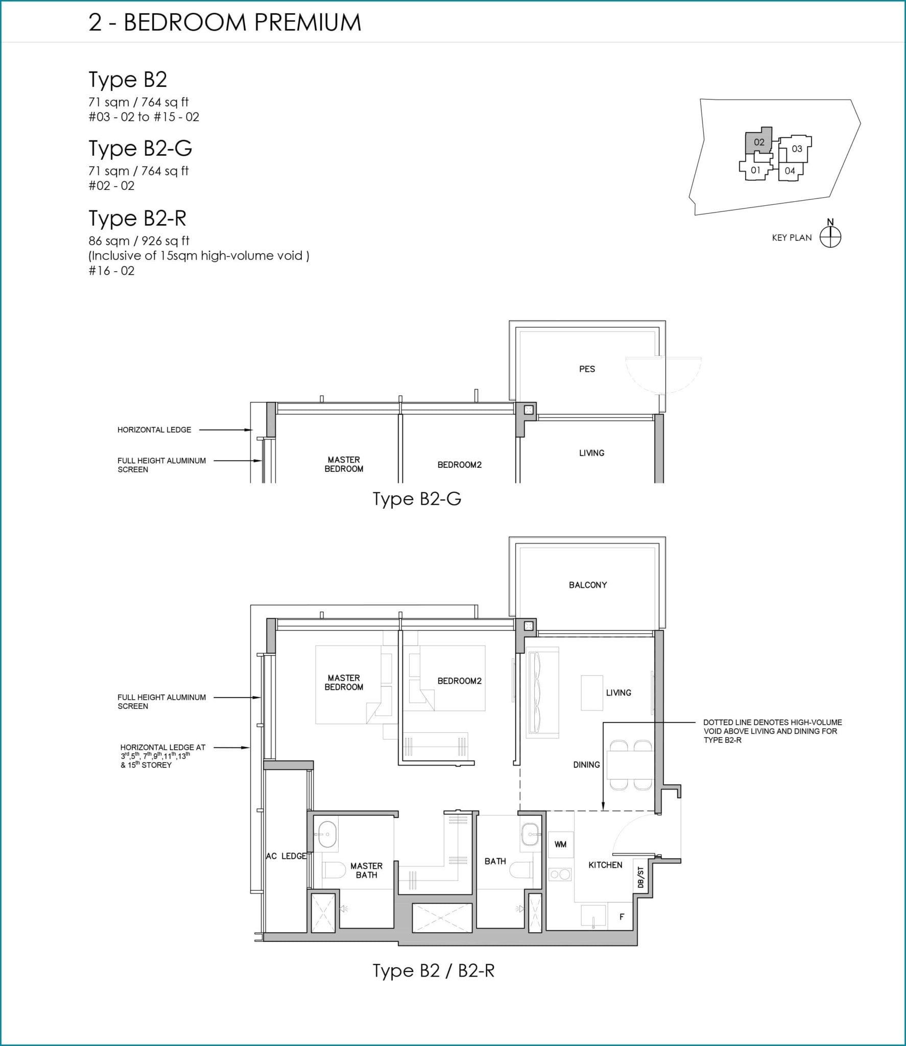 grange-1866-Floor Plan 2BR Premium B2