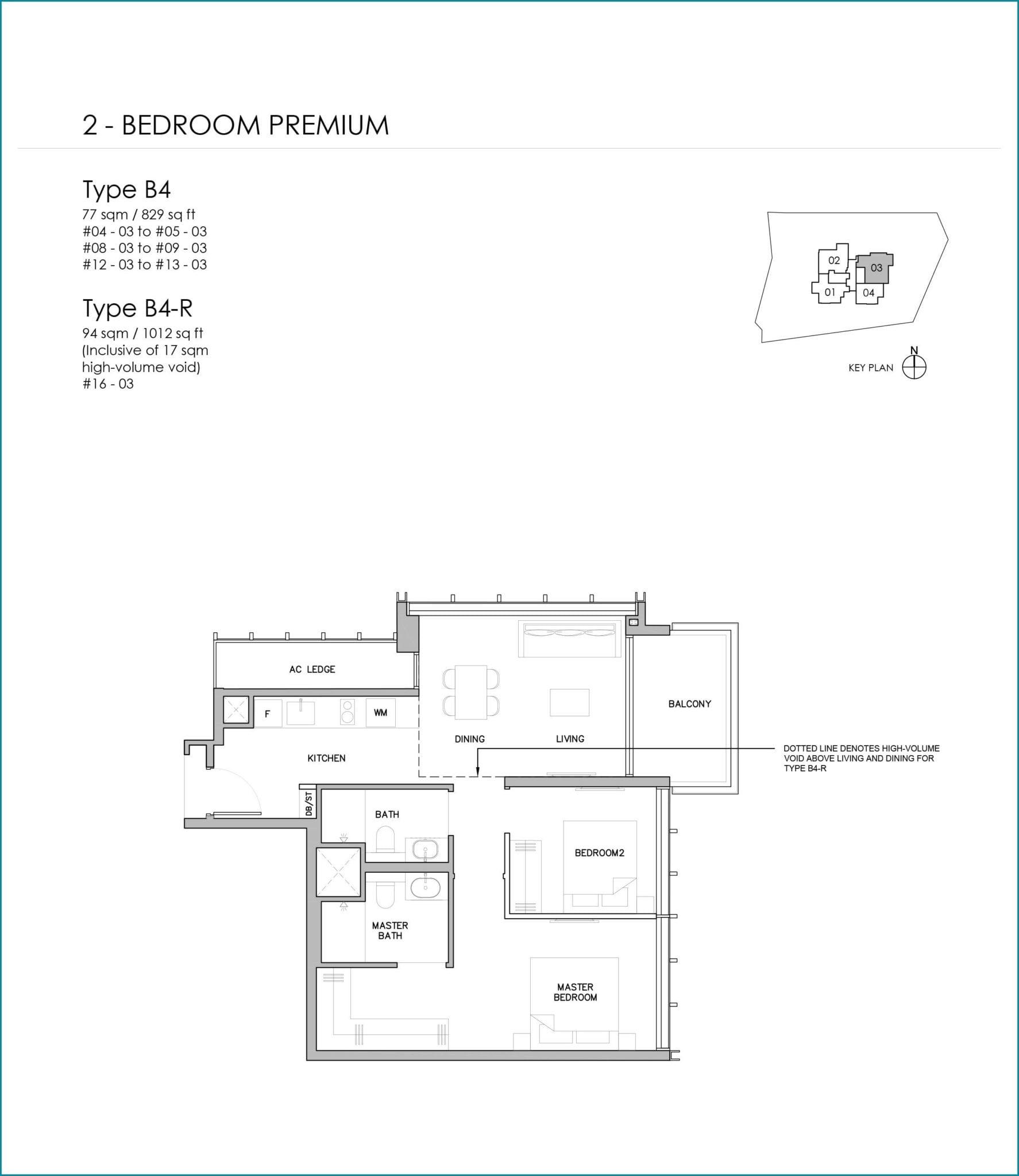 grange-1866-Floor Plan 2BR Premium B4