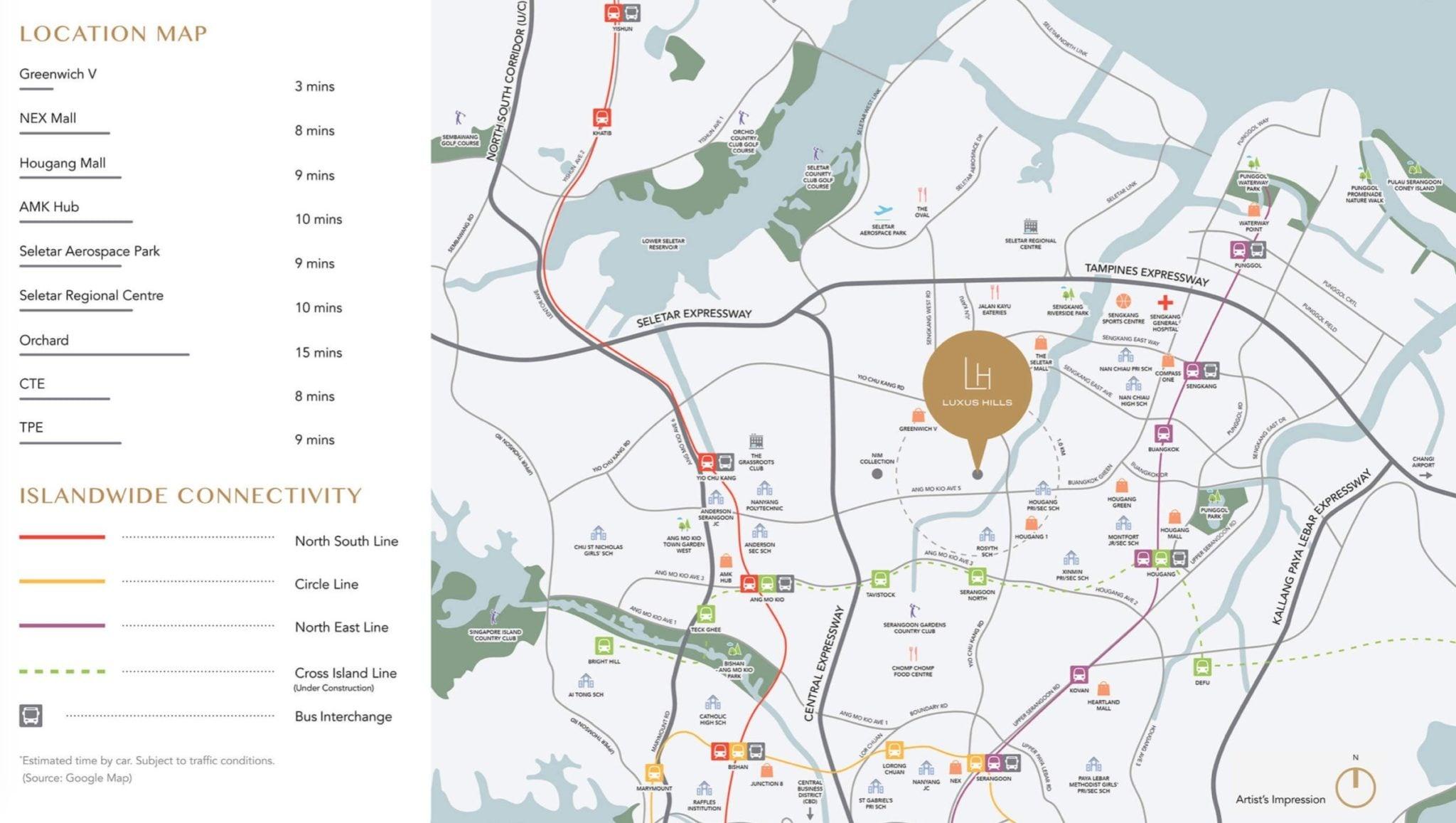 luxus-hills-bukit-sembawang-location map
