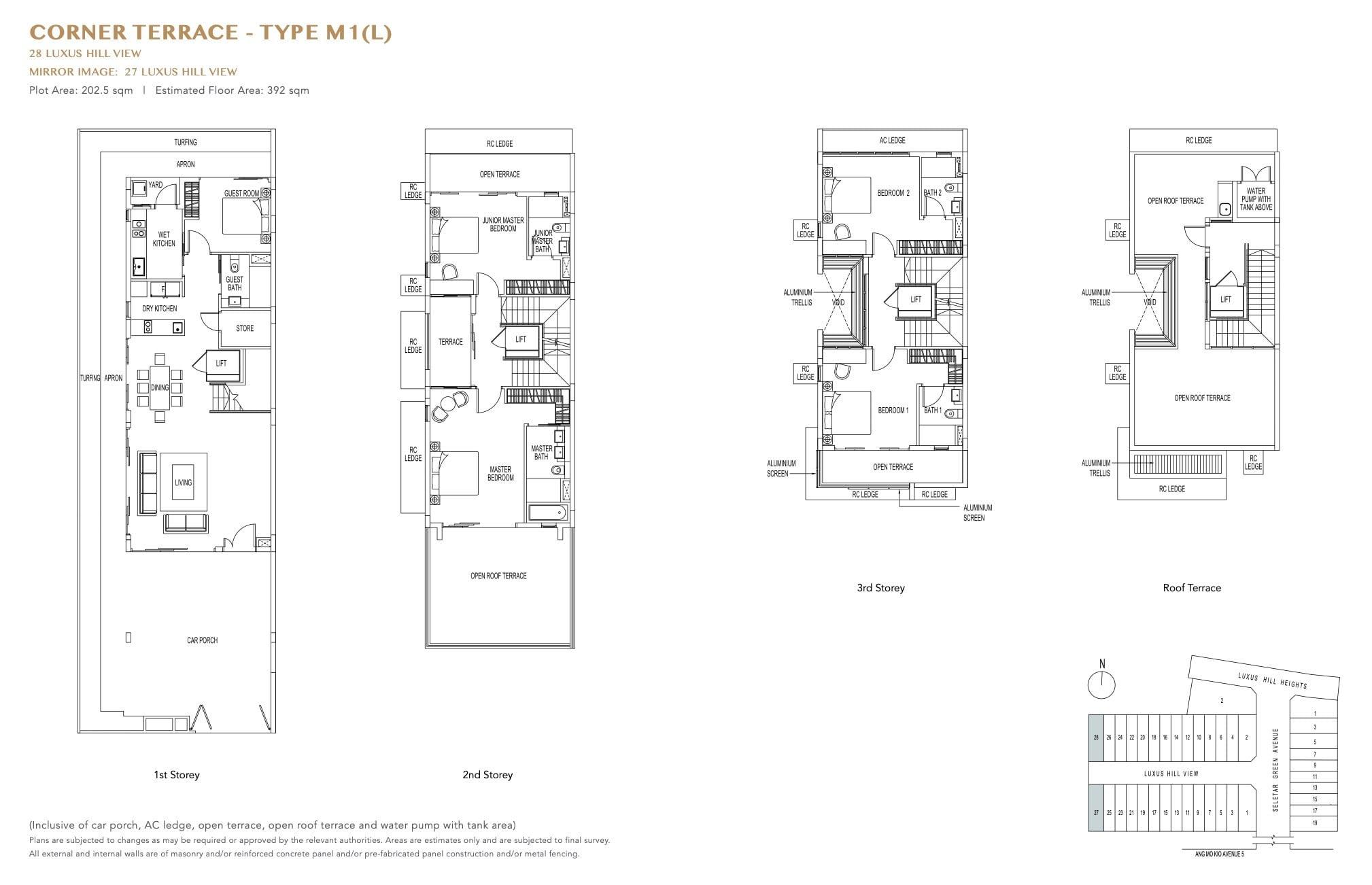 luxus-hills-contemporary - Corner Floor Plan 1