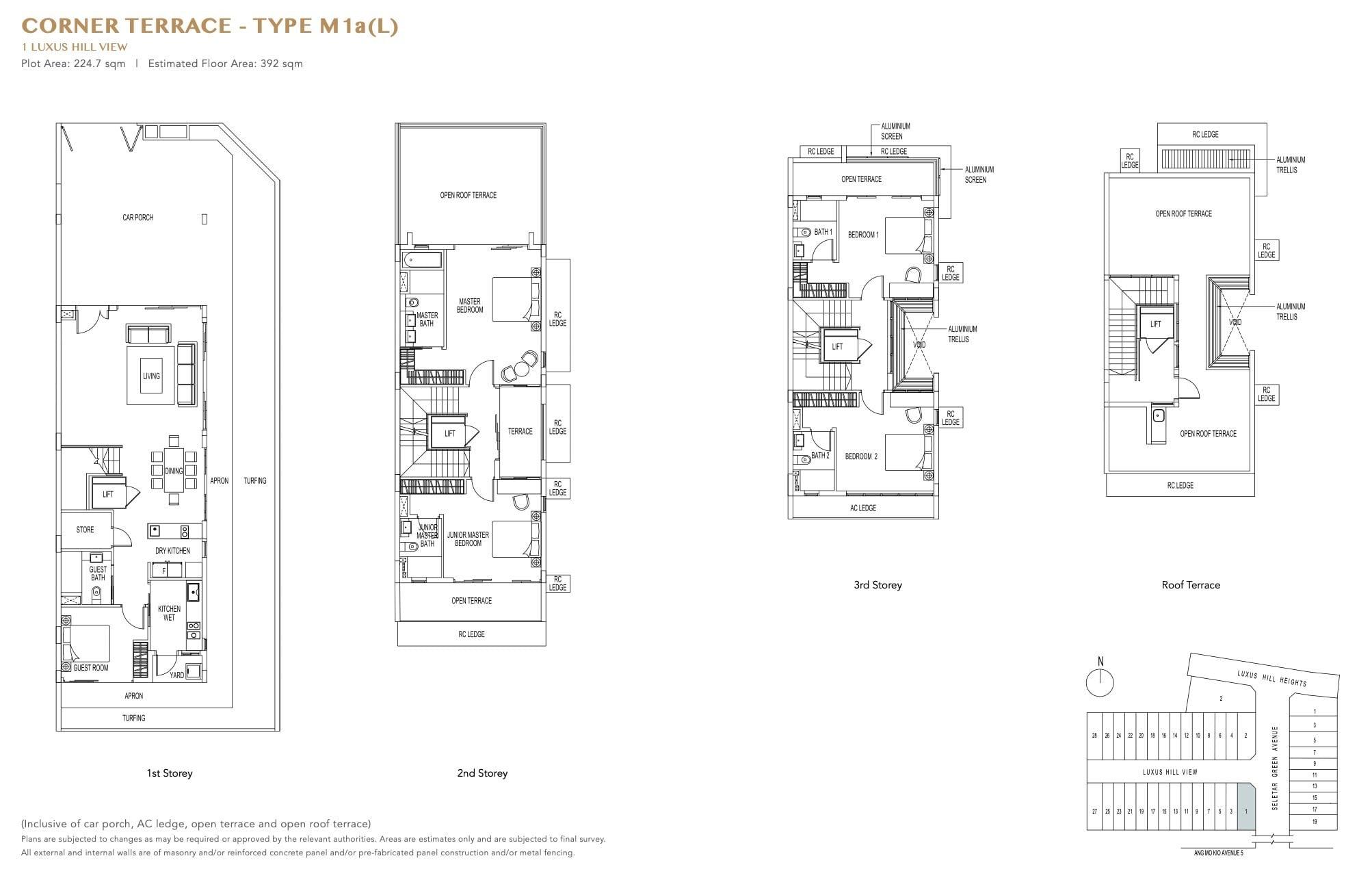 luxus-hills-contemporary - Corner Floor Plan 2