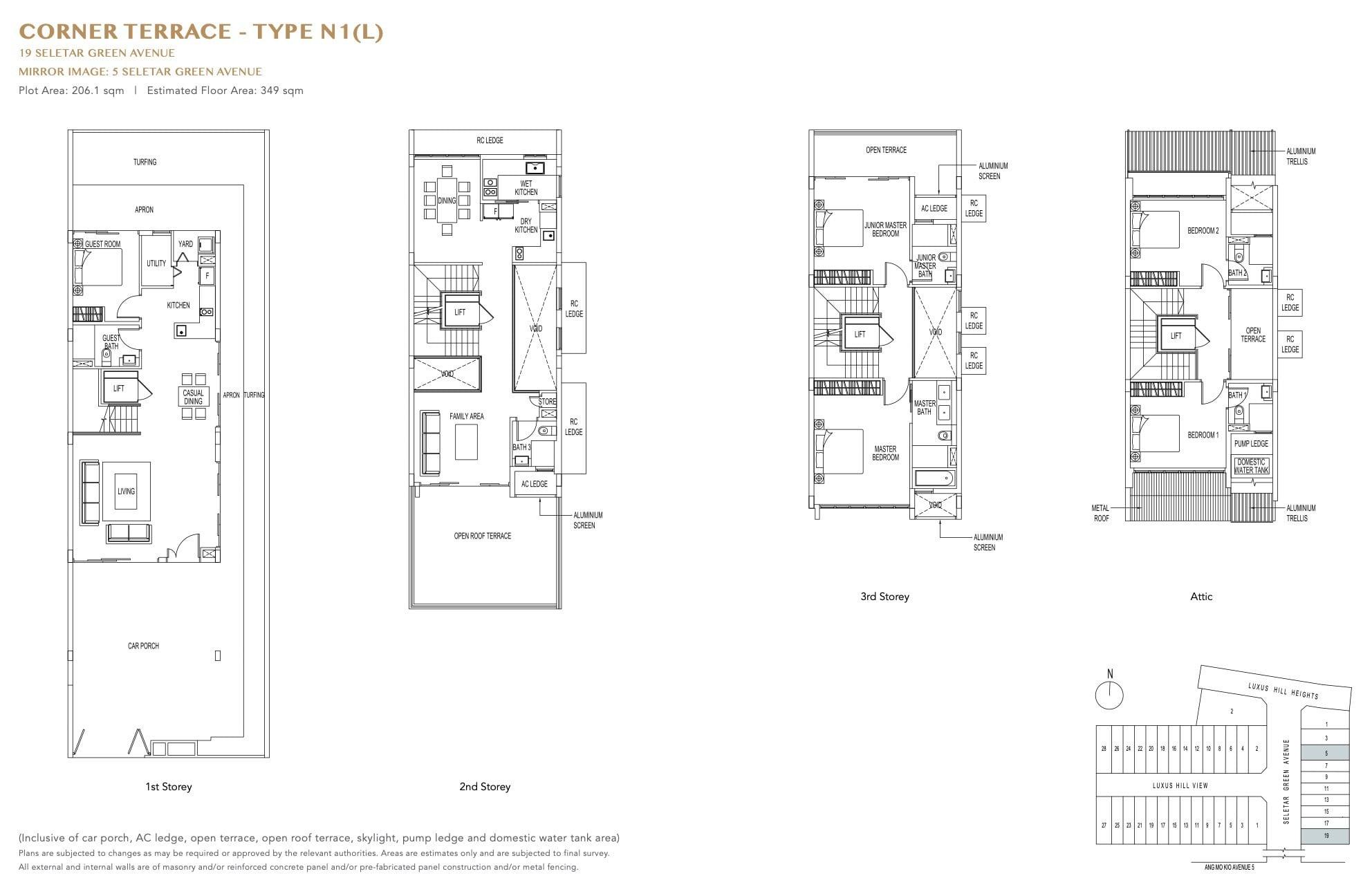 luxus-hills-contemporary - Corner Floor Plan 4