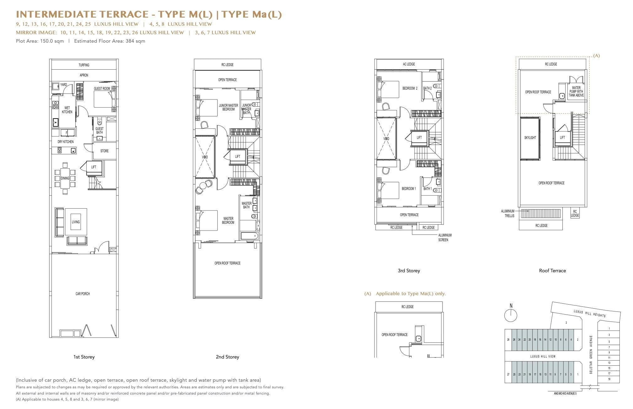 luxus-hills-contemporary - Intermediate Floor Plan