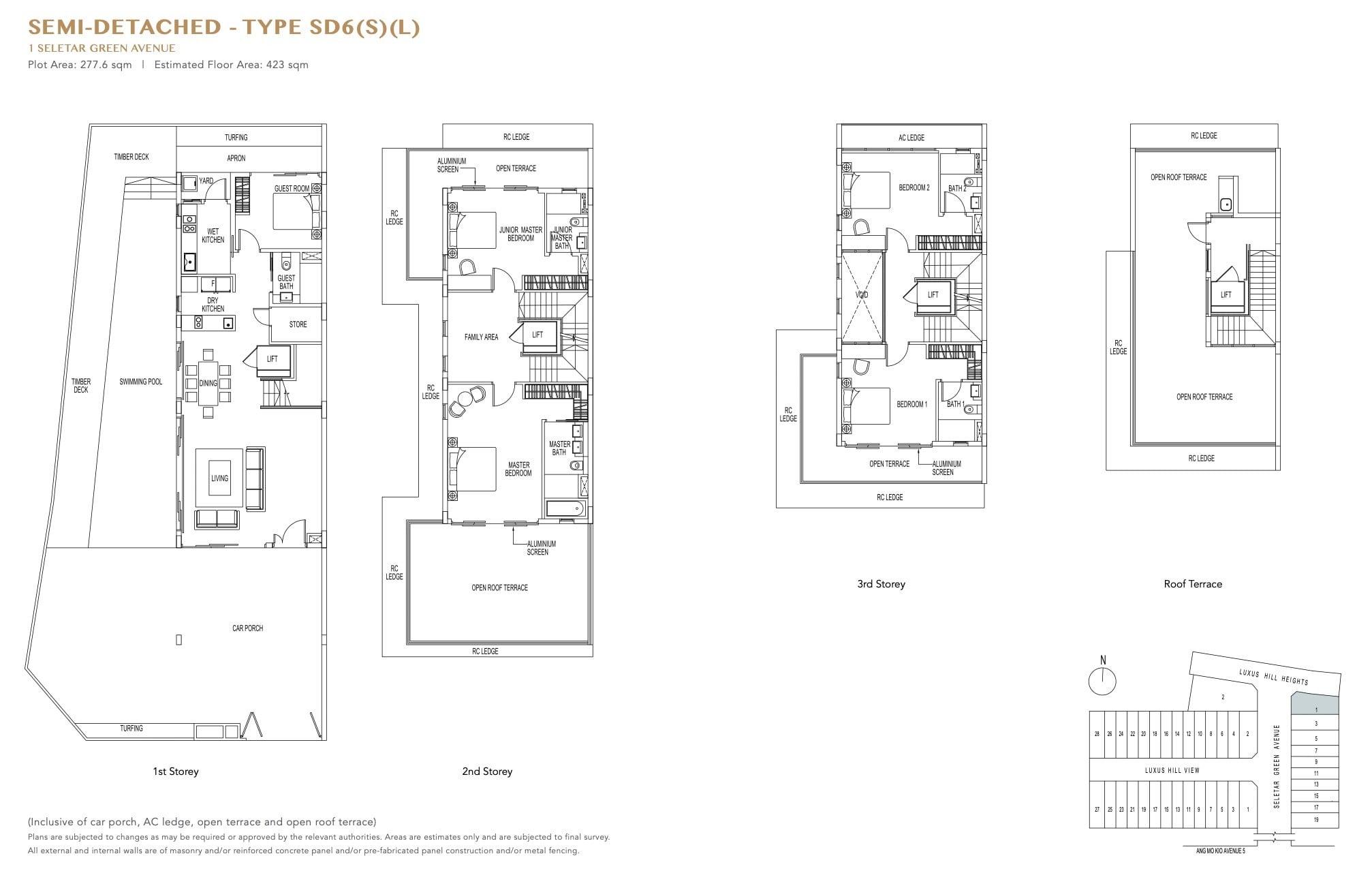 luxus-hills-contemporary - Semi D Floor Plan2
