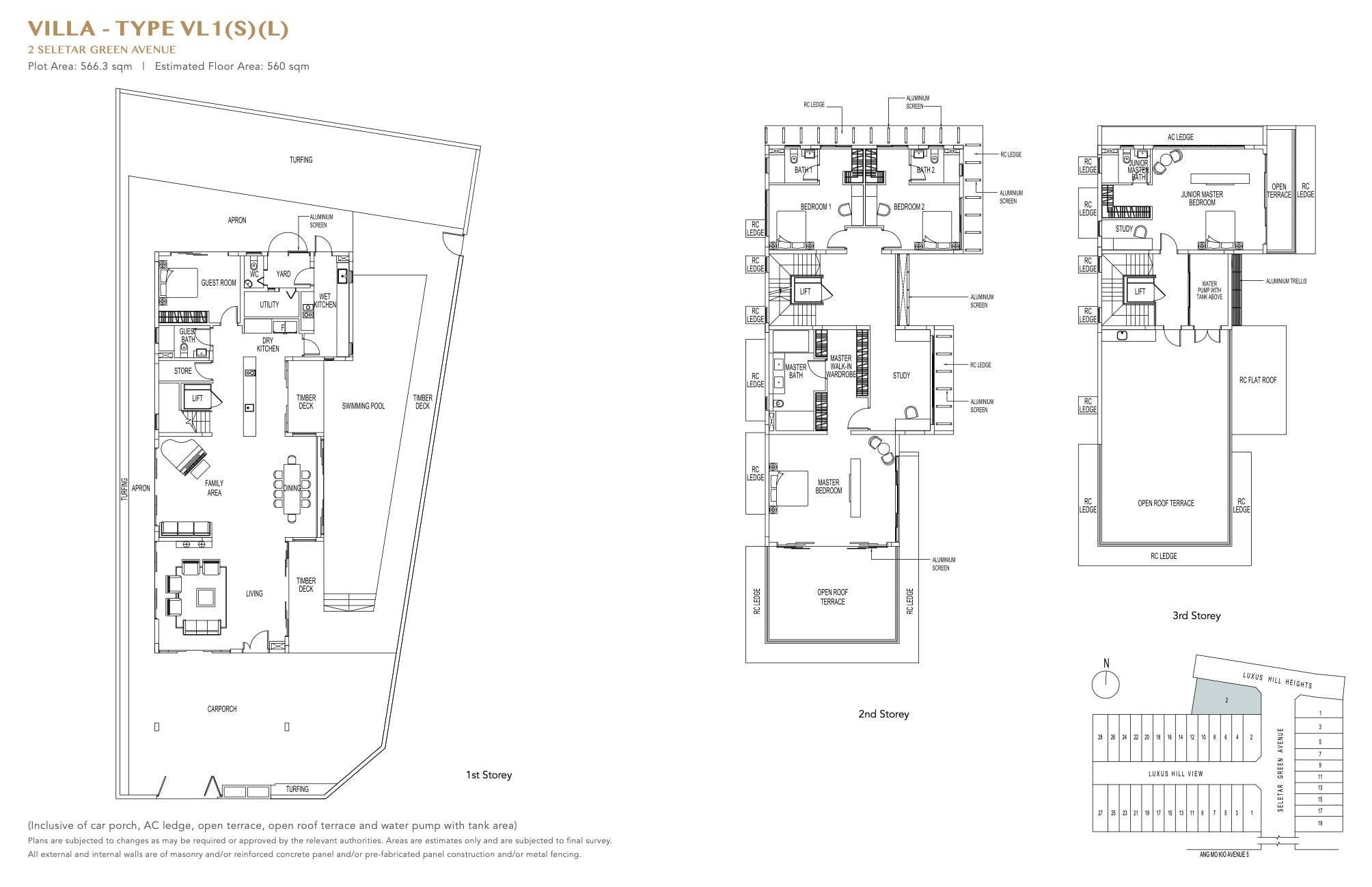 luxus-hills-contemporary - Villa Floor Plan