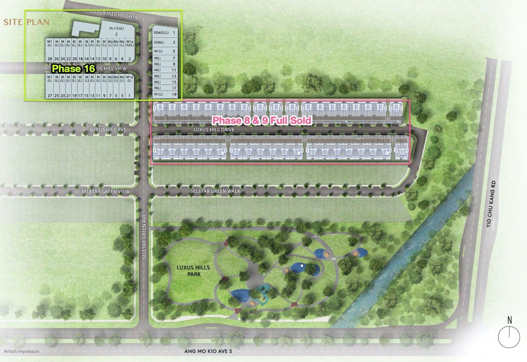 luxus-hills-site plan