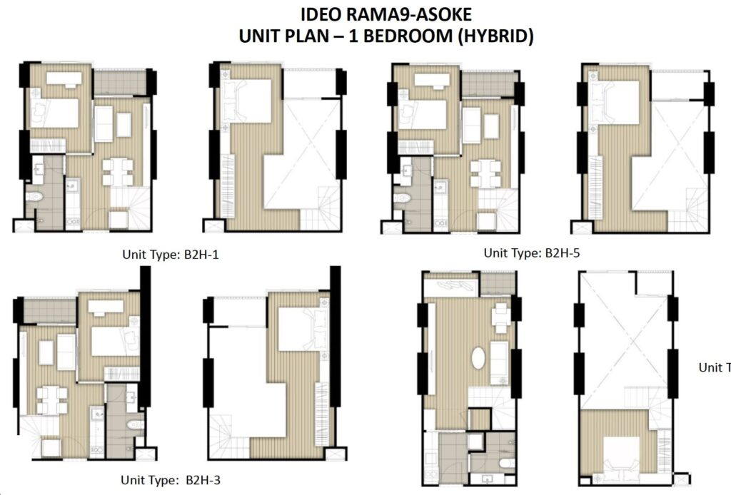 Ideo Rama 9 -Asoke Floor Plan 1BR Hybrid