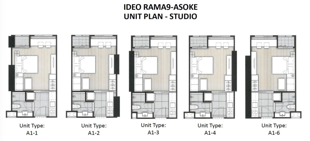 Ideo Rama 9 -Asoke Floor Plan Studio all