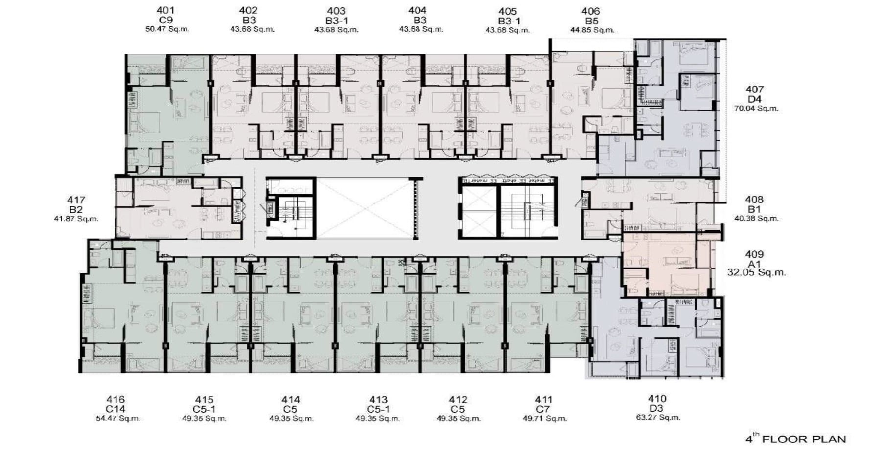 Walden Thonglo 8 - FloorPlan 4th