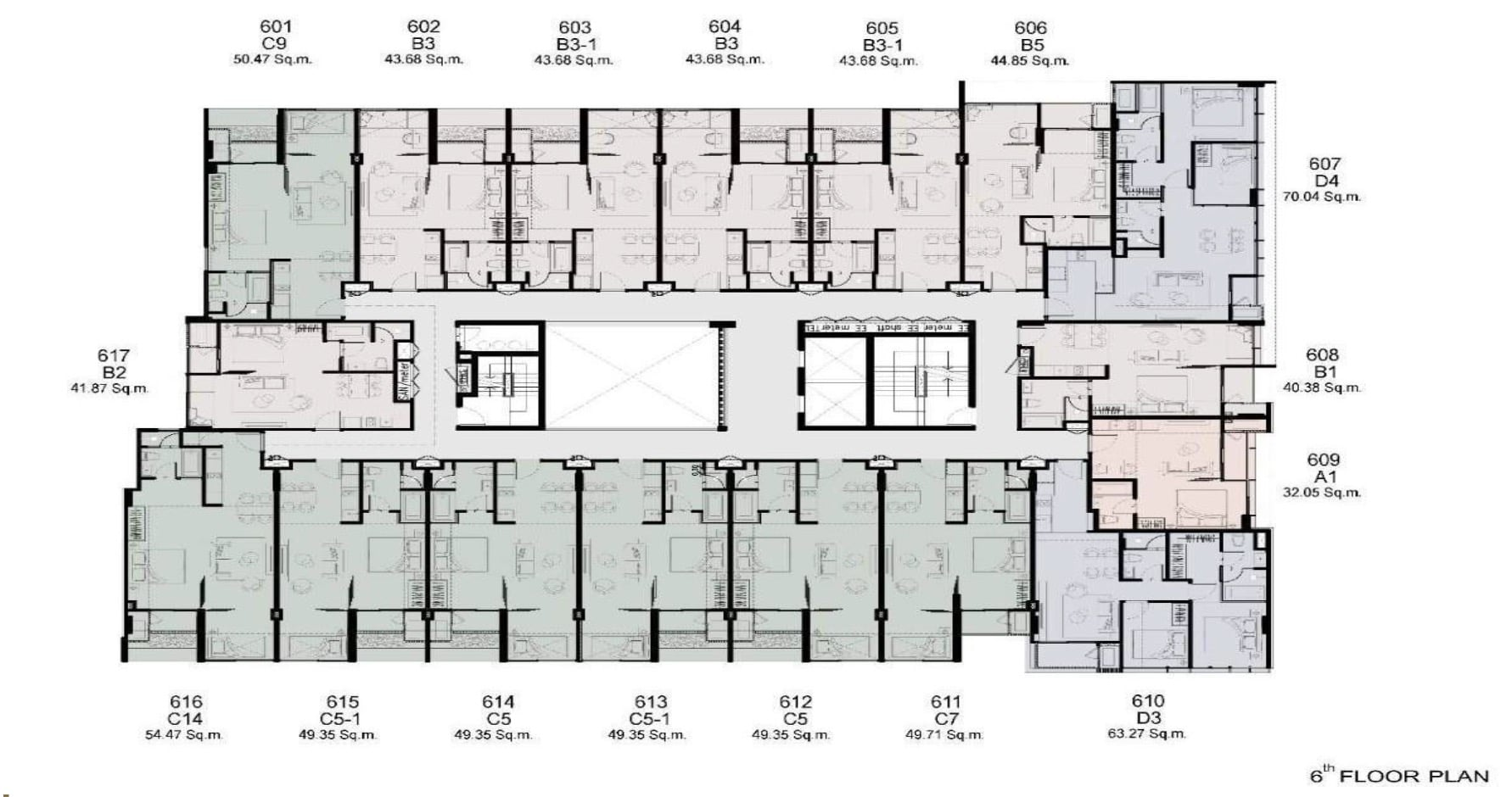 Walden Thonglo 8 - FloorPlan 6th