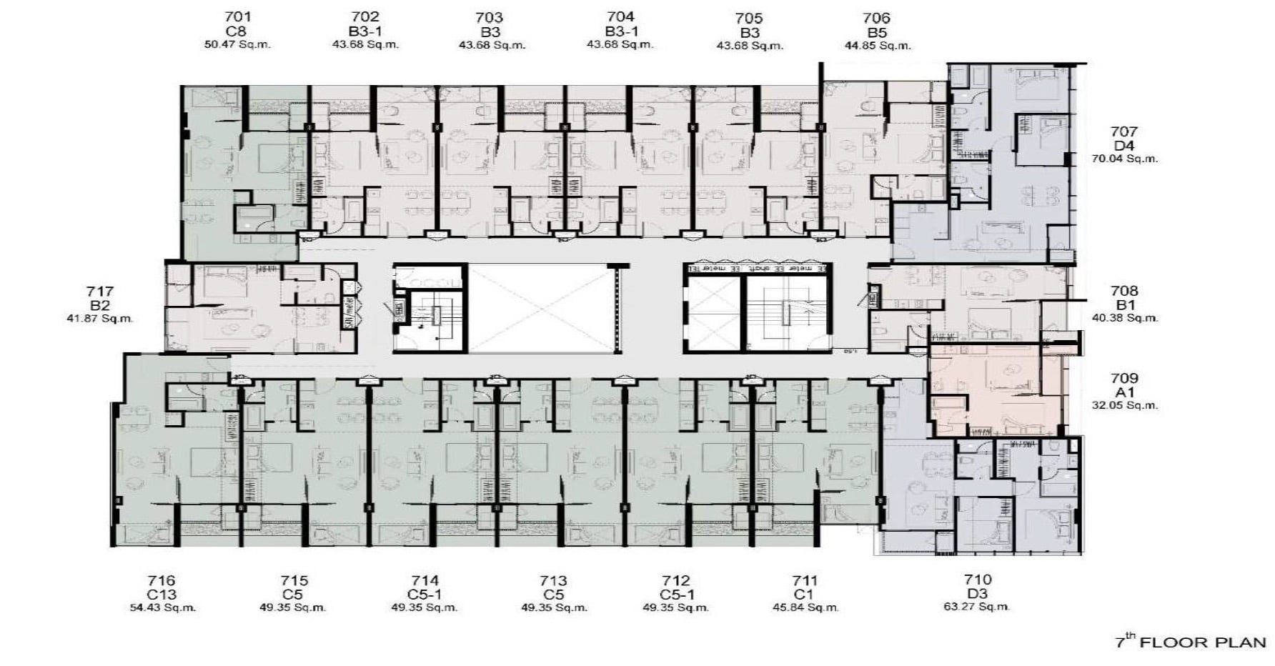 Walden Thonglo 8 - FloorPlan 7th