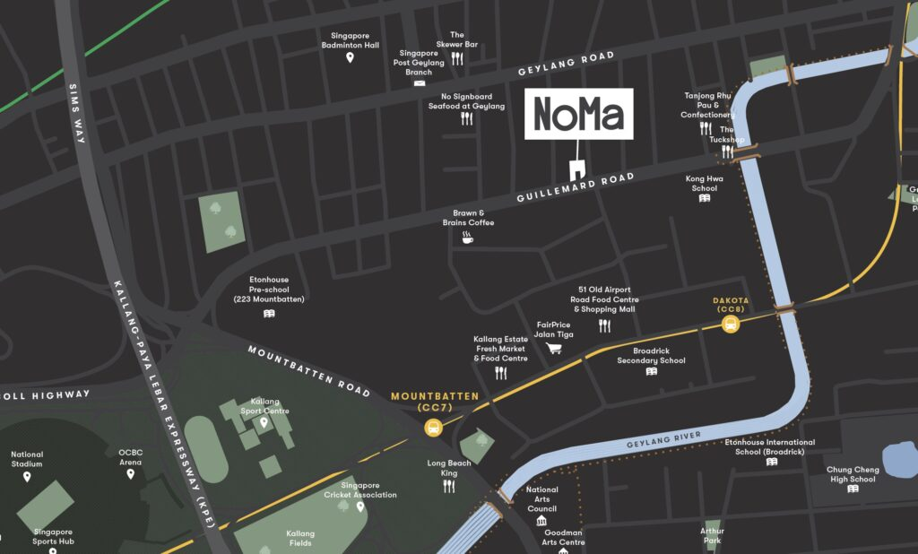 Noma-condo-guillemard-location map