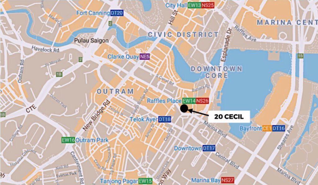 20 Cecil Street Location Map