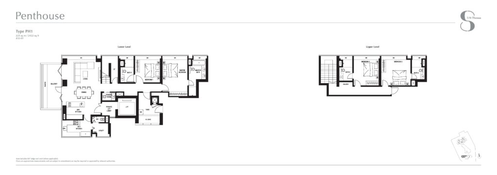 8 st thomas floor plan 4BR Penthouse PH1