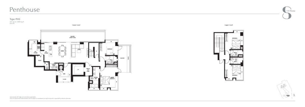 8 st thomas floor plan 4BR Penthouse PH2