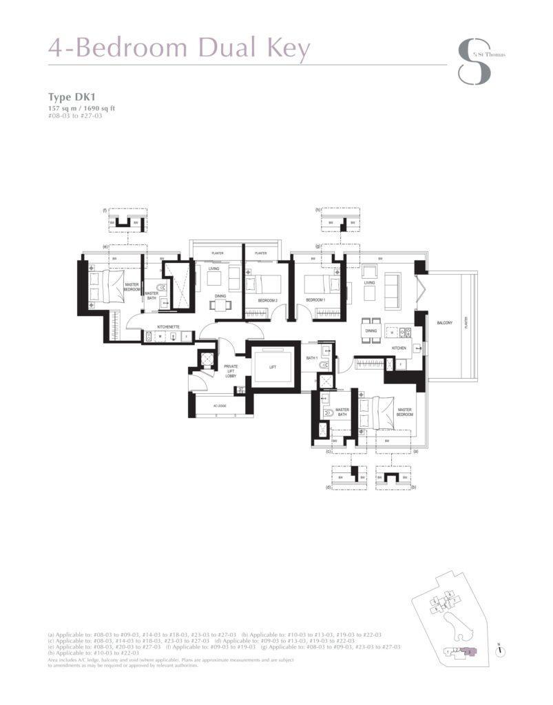 8 st thomas floor plan 4BR type DK1