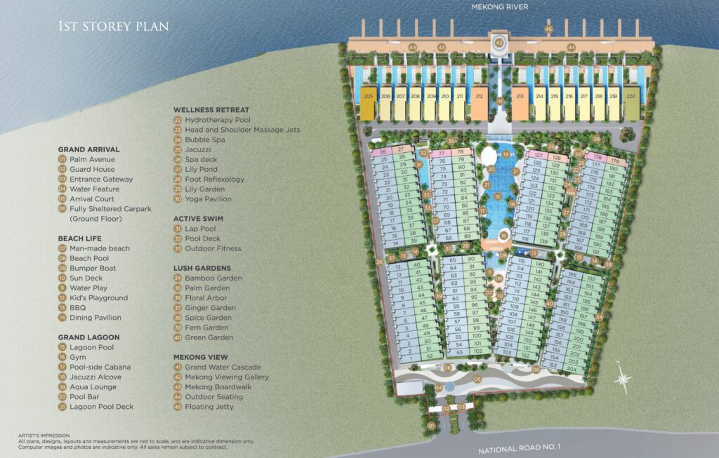 Palms Oxley Cambodia -Site Plan level 1