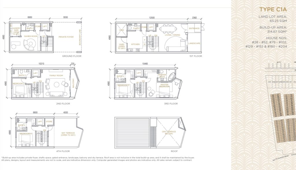 Palms Oxley Cambodia-floor plan type C1A