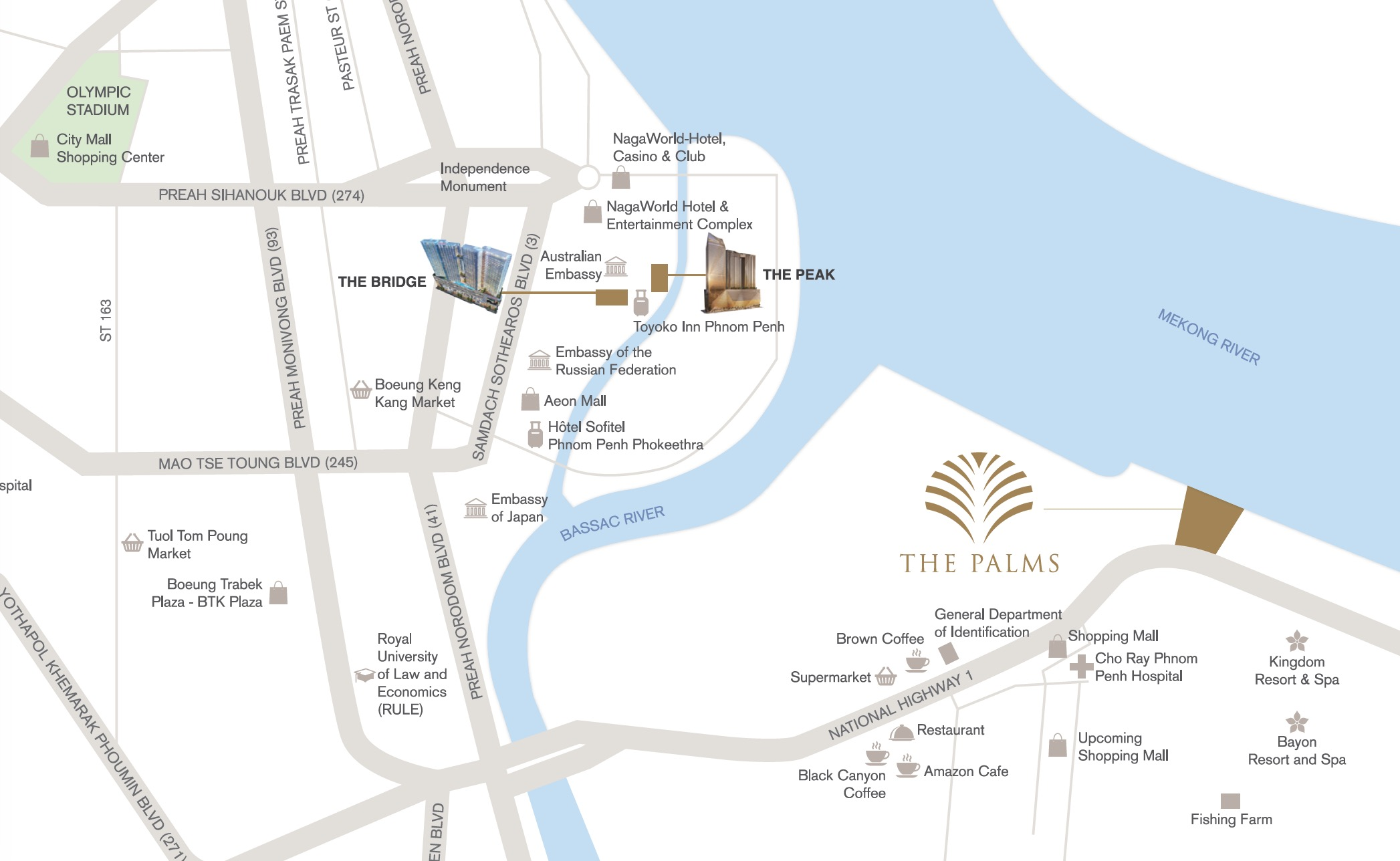Palms Oxley Cambodia location map