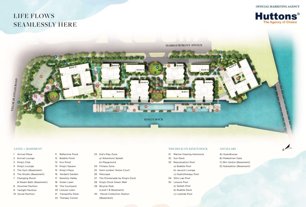 The-Reef-King's-Dock-Site Plan
