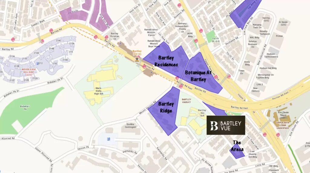 Bartley Vue Location map