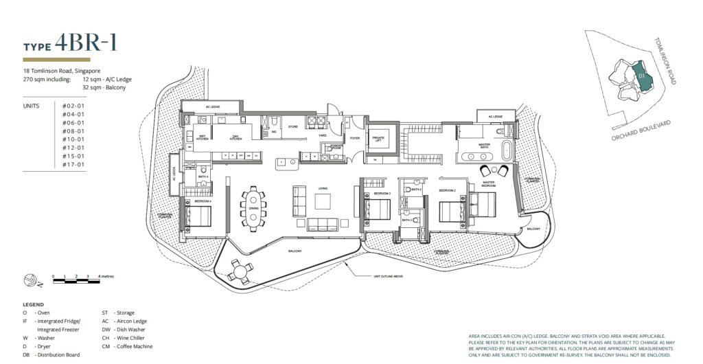 Park Nova floor plan 4BR-1