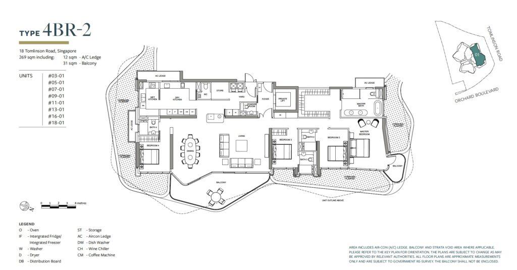 Park Nova floor plan 4BR-2