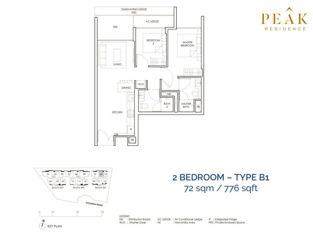 Peak-Residence-Novena-Floor-Plan-2BR-Type-B1