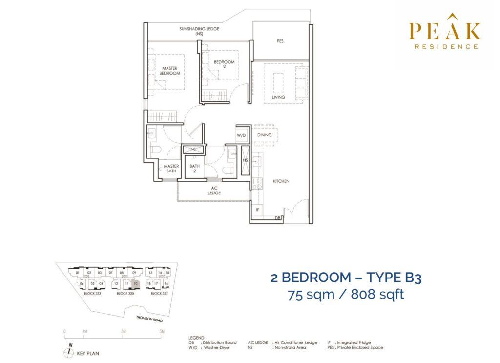 Peak-Residence-Novena-Floor-Plan-2BR-Type-B3