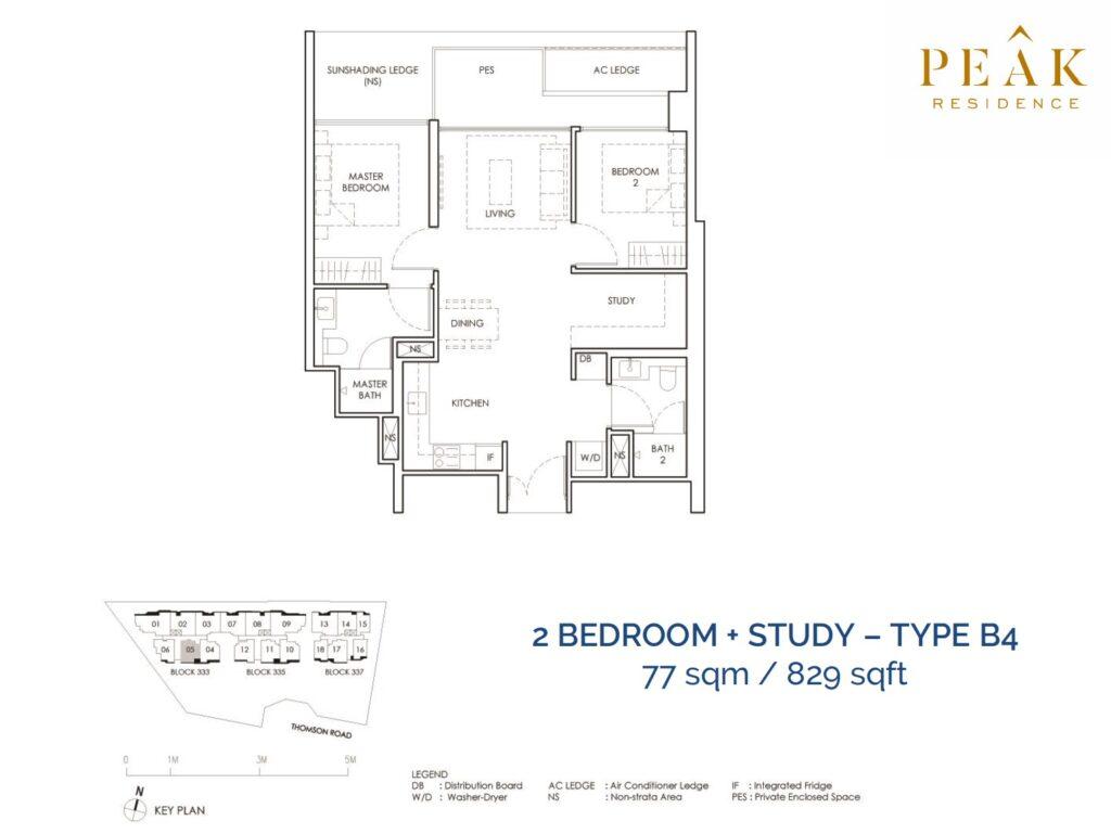 Peak-Residence-Novena-Floor-Plan-2BR-Type-B4
