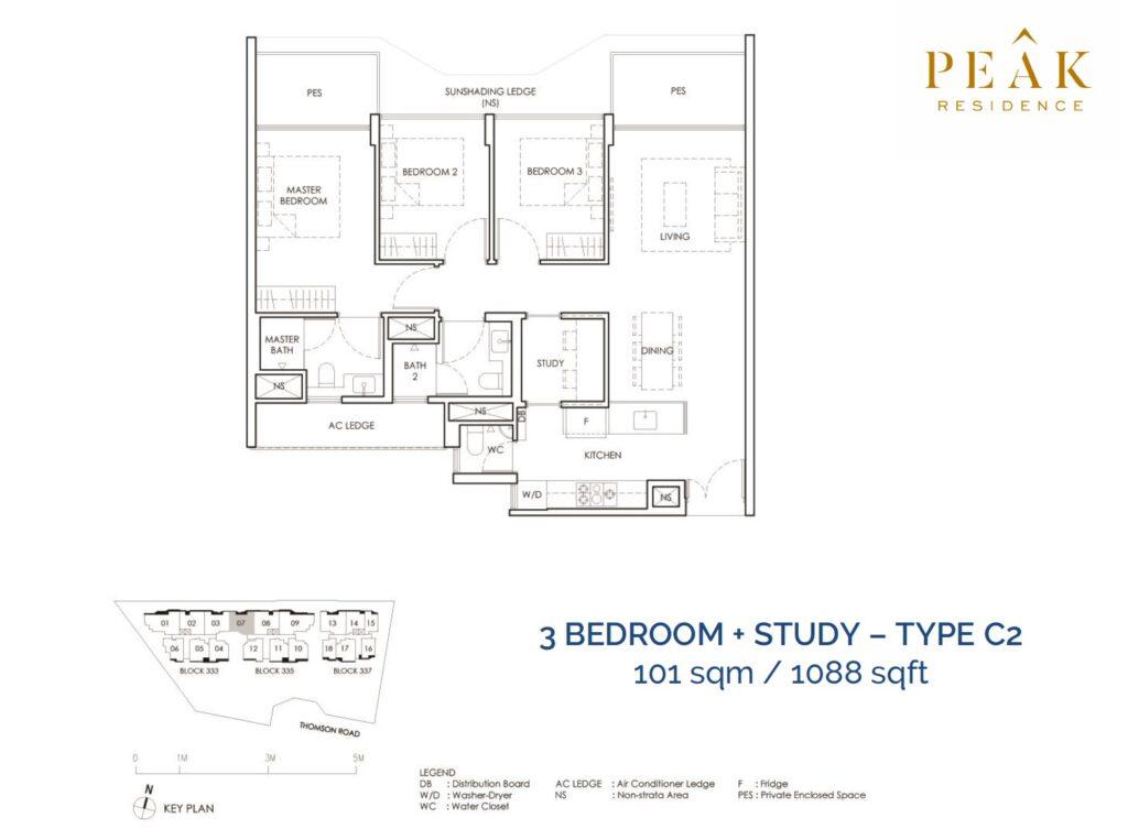 Peak-Residence-Novena-Floor-Plan-3BR-SType-C2