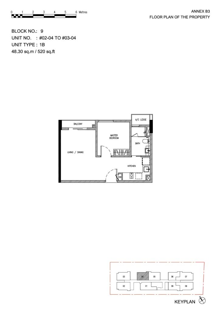 Roots at Transit - floor plan 1BR stack 04