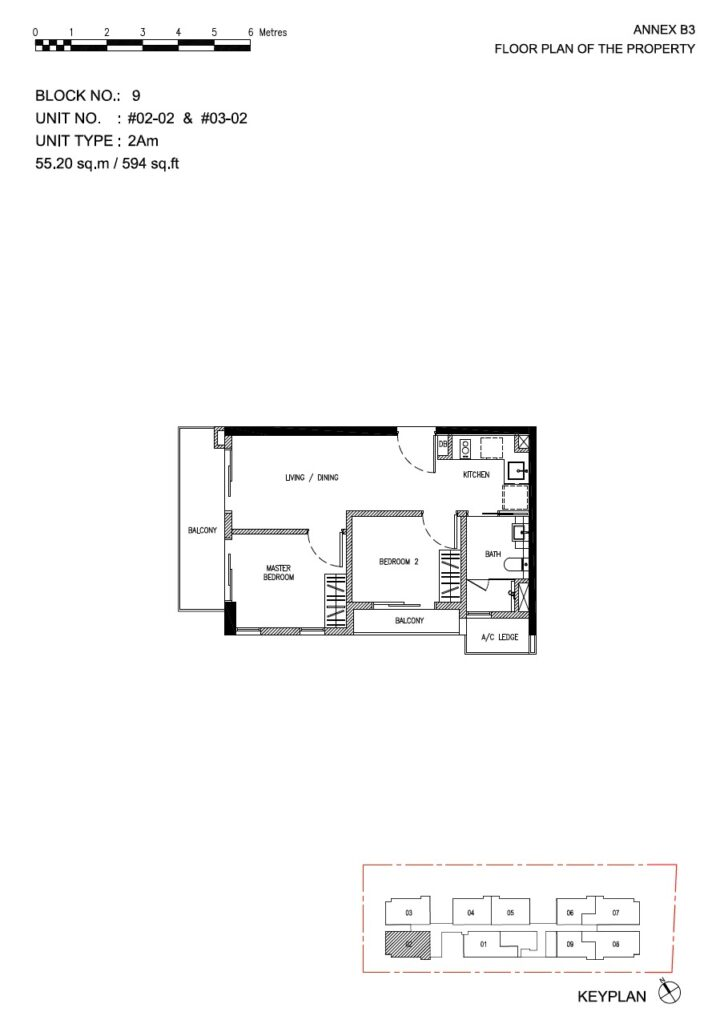 Roots at Transit - floor plan 2BR stack 02